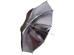 Sølv/sort paraply