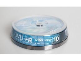 TDK DVD+R 16x 10stk Spindel (*)
