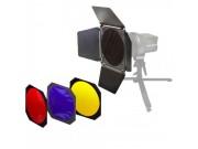 Interfit EX150 Låvedørsett med fargefilter